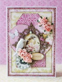 Romantic spring card made for @scrapberrys with the Cherished Jewels collection.