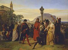 Francesco Hayez -- 1838-1840. Italian Painters, Italian Artist, Los Borgia, Gallery Of Modern Art, Art Gallery, Italy Painting, French Artists, Art Google, Les Oeuvres