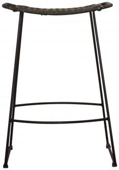 Block & Chisel rattan seat counter stool