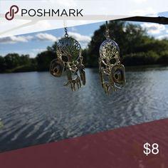 Under The Oak Tree Earrings Country Bling Earrings 925 Hooks Jewelry Earrings