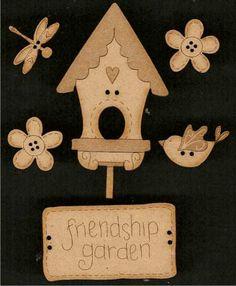 Friendship Garden Buttons