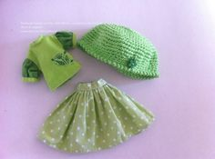 3 piece green set for Blythe Azone Size S by RainbowDaisies