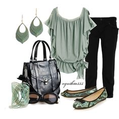 outfits- mint and black