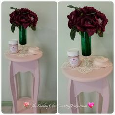 Table painted in Candy Floss Pink Chalk Based Paint