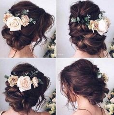 Best Hairstyles for Brides - Elegant Messy Bun Updo - Amazing Hair Styles and Looks for Half Up Medium Styles, Updo With Long Hair, Short Curls, Vintage Looks with Veil, Headpieces, or With Tiara - Wedding Looks for Girls With Round Faces - Awesome Simple Bridal Style With Headband or Elegant Braided Up Dos - thegoddess.com/hairstyles-for-brides