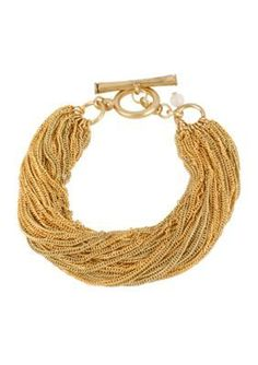 Kenneth Cole  Multi Chain Toggle Bracelet