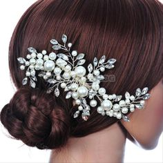 Wedding-Party-Bridal-Bridesmaid-Prom-Crystal-Tiara-Hair-Comb-Women-Headpiece-New