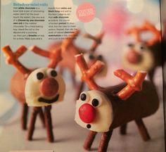 Chocolate mini roll reindeer