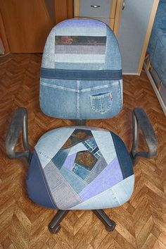 what a great way to recover an office chair