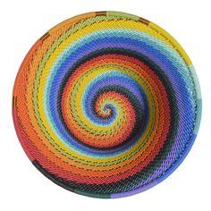 Amazon.com: Fair Trade Zulu Telephone Wire Small Cone Basket, African Spirit: Kitchen & Dining