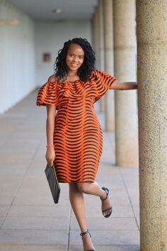 kitenge designs Off shoulder dress African Print Dresses, African Wear, African Attire, African Fashion Dresses, African Women, African Dress, African Prints, African Style, African Clothes