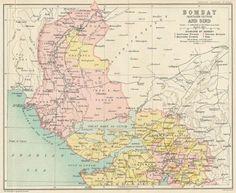 Humorous West India Inset Mumbai Bombay Chennai Madras Showing Native States 1909 Map