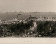 Rhodes, Paris Skyline, The Past, History, Photography, Painting, Travel, Art, Art Background