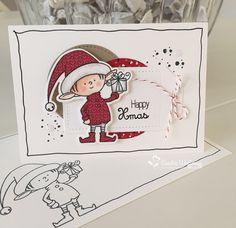 Het eerste kerstkaartje van het jaar is gemaakt met de Mix 'n Up! Kit  van Inge  en Carmen .     Een supergave kit met heel veel cardst...