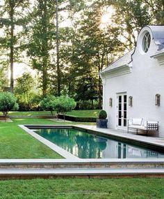 Lap Pool among lush lawns