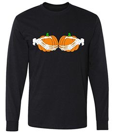Don't Touch My Pumpkins Skeleton Hands long sleeve T-Shirt