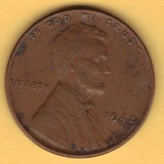 1942 US Coin 1942 Wheat Penny 1942 Lincoln Cent United States circulated #1