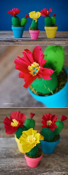 #CrepePaper #PaperCactus #PaperFlowers #CrepePaperRevival www.LiaGriffith.com: