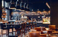 Hotel Van Zandt - A Kimpton Hotel is a Wedding Venue in Rainey Street Historic District, Austin, Texas, United States. See photos and contact Hotel Van Zandt - A Kimpton Hotel for a tour. Pub Interior, Restaurant Interior Design, Modern Interior Design, Deco Design, Cafe Design, Design Design, Magic Places, Mid Century Bar, Puerto Princesa