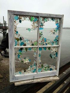 20 Cheap Coastal Decor Trending This Summer - Interior Design - The Effective Pictures We Offer You About gothic decor A quality picture can tell you many things. Sea Glass Crafts, Sea Glass Art, Stained Glass Art, Sea Glass Decor, Sea Glass Beach, Seashell Art, Seashell Crafts, Beach Crafts, Mosaic Art