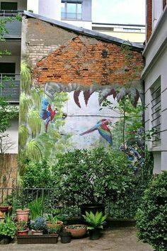 Green Renaissance.  Paint a mural in your yard.
