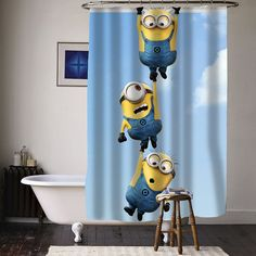 despicable me minion special custom shower curtains available size from curtainasu on Etsy