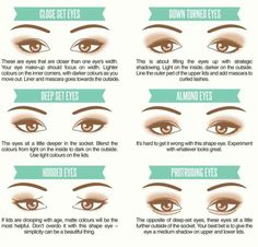 Find your eye shape. Different types of eyes require different type of eye makeup. Discover your eye shape and enter a whole new world of beauty. This amazing infographic will help you on your way. Shout out almond eye girls! The Beauty Department, Eye Makeup, Makeup Brushes, Alien Makeup, Devil Makeup, Witch Makeup, Contour Makeup, Beauty Makeup, Beauty Blender