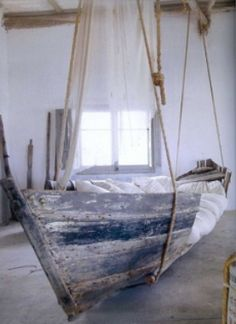 Hammock boat bed. I don't know where we'd put it, but cool!