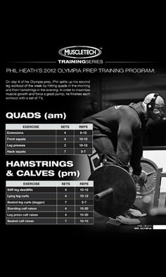 Phil Heath 2012 Olympia prep Traning (Legs) Day #4