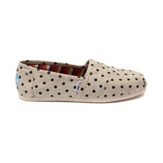 Shop for Womens TOMS Classic Hemp Slip-On Casual Shoe in Natural Polka Dot at Journeys Shoes. Shop today for the hottest brands in mens shoes and womens shoes at Journeys.com.Polka dots plus hemp!? TOMS has cute and lightweight on lock! Features the famous Toms toe stitch and elastic V, cushioned suede insole, latex arch, and one piece mixed rubber outsole.