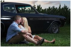 Farm Barn Engagement Session - Rustic Wedding Photography - cornfield engagement pictures -  Pittsburgh wedding photographer - classic car engagement photos - 1970 chevelle