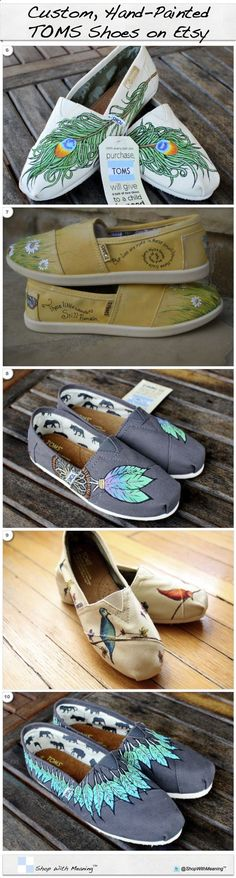 Toms - New Shoes Included - Made to Order - Classic Toms or Ballet Flats