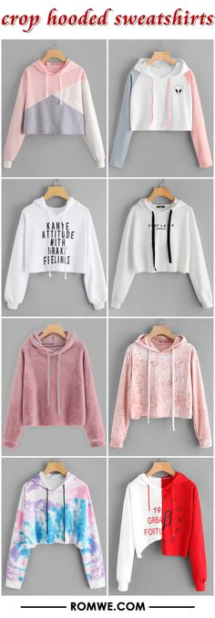 crop hooded sweatshirts 2017 - romwe.com