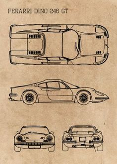 Classic Cars Blueprint Blueprints poster prints by Ihab Design Maclaren Cars, Models Men, Lincoln Models, Mini Car, Blueprint Art, Antique Cars, Vintage Cars, Shelby Gt, Car Posters