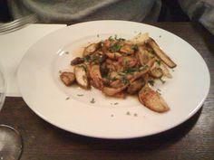Le Baratin - bistrot gastronomique - 3, rue Jouy Rouve - Paris 20  Poêlée de cèpes - Le Baratin