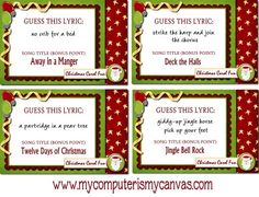 Christmas games for party