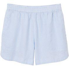 Miranda shorts (€21) ❤ liked on Polyvore featuring shorts, bottoms, elastic waistband shorts, stripe shorts, pocket shorts, striped shorts and monki