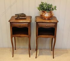 Pair Of French Oak Bedside Cabinets - Antiques Atlas £395