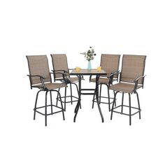 Patio Bar Stools, Swivel Bar Stools, Bar Chairs, Swivel Chair, Bar Height Table, Bistro Set, Outdoor Furniture Sets, Outdoor Decor, Foot Rest