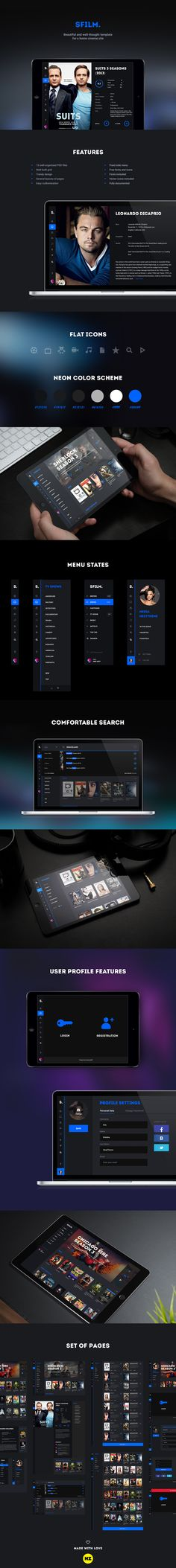 SFilm is a nice template for an entertainment site. It is suitable for cinema, movie and podcast site, blogs and other movie communities.This template will help you get a professional video site quickly. SFilm has a comfortable menu and search. The down…