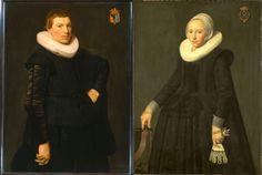 Portrait de Reinier Ottsz Hinloopen et son épouse Trijntje Tijsdr van Nooy, 1631 Nicolaes Eliasz Pickenoy