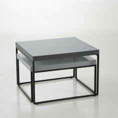 Lote de 2 mesas baixas encaixáveis design, Joan
