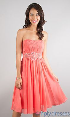 Short Strapless Homecoming Dress at SimplyDresses.com