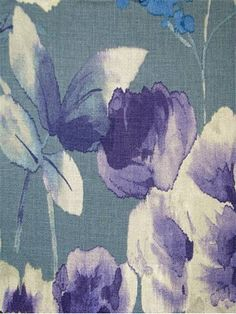Watercolor Fabric By The Yard On Pinterest Vern Yip