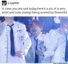 ARMY, I KNOW WE ARE ALL DROWNING WITH FEELS NOW. on a lighter note, here is cute smol bean yoongi