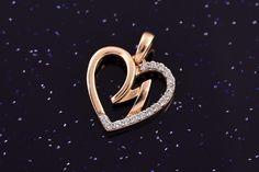 Zlatý přívěsek srdce se zirkony P048 1,40g Heart Ring, Rings, Jewelry, Fashion, Moda, Jewlery, Jewerly, Fashion Styles, Ring