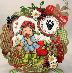 Strawberry Tilda from Sweet Rainbow collection, Magnolia Stamps
