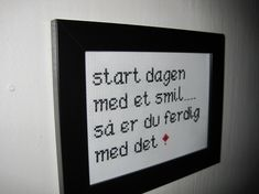 Bilderesultat for broderi med tekst Funny Embroidery, Positive Phrases, Textiles, Homemade Gifts, Cross Stitching, Cross Stitch Patterns, Diy And Crafts, Funny Quotes, Letters