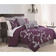 Duchess Plum 9-piece Comforter Set - Overstock™ Shopping - Great Deals on Comforter Sets