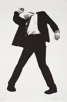 "Robert Longo - From the series ""Men in the Cities"", 1979, charcoal and graphite"